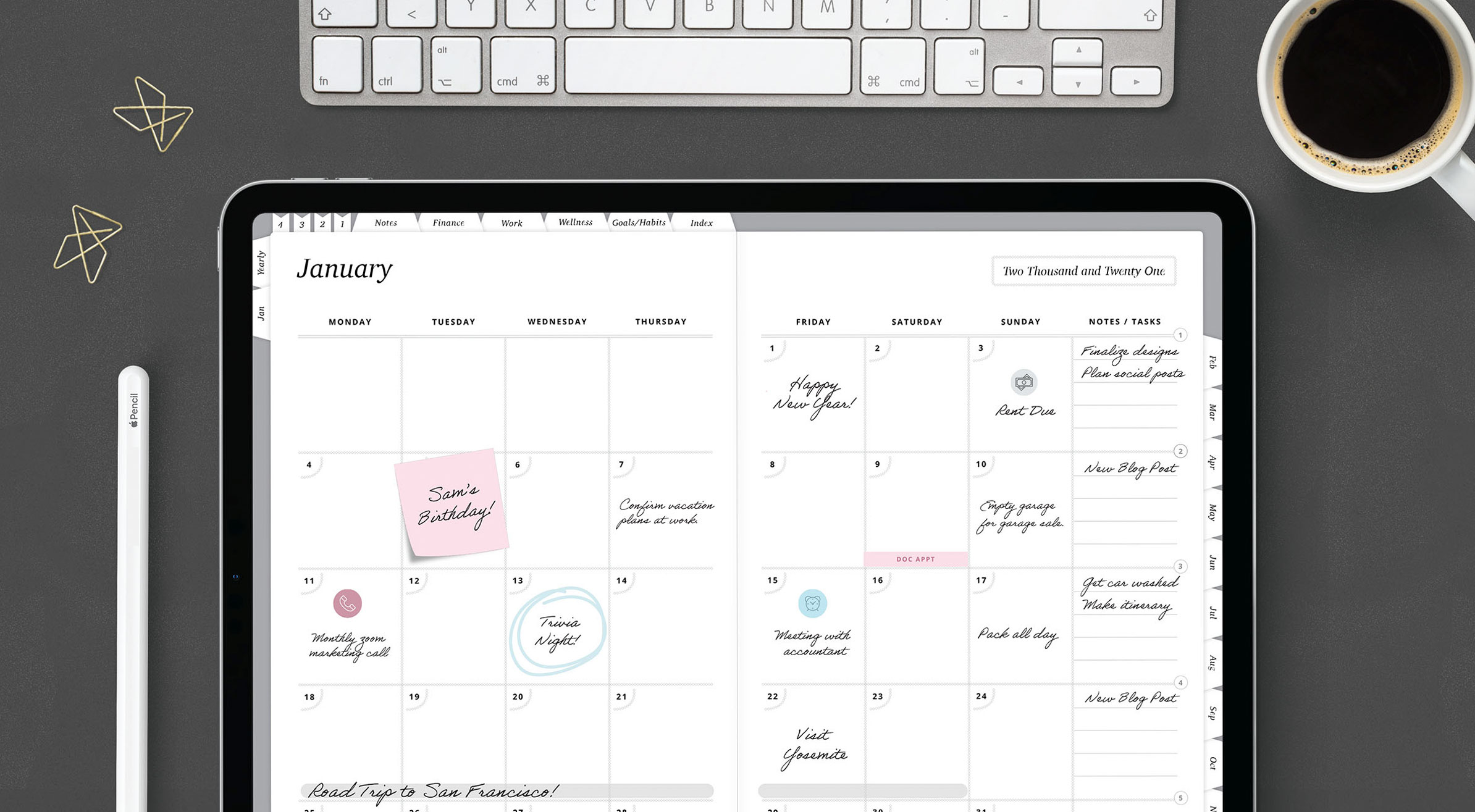 2021 Digital Life Planner – Notability